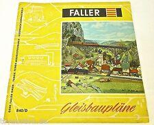 Gleisbaupläne FALLER 840/D   å