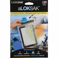 2 Aloksak 6.25x9 Waterproof Airtight Map Pouches LOKSAK ALOKD2-6x9