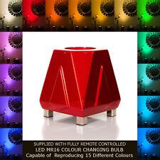 Deco ambiance lampe lampadaire-fusée rouge-table design light & plancher d'éclairage.