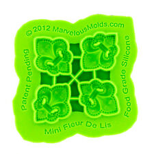 Mini Fleur De Lis Silicone Mold by Marvelous Molds #AM-02 Gum Paste Mold