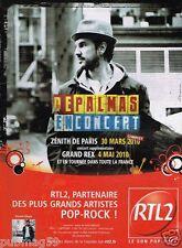 Publicité Advertising 2010 Concert Gerald De Palmas avec Radio RTL 2