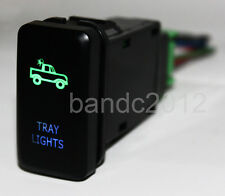 Green & Blue TRAY LIGHTS LED PUSH BUTTON SWITCH For FJ Cruiser Hilux Landcruiser