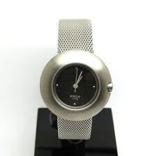 Ladies All Titanium BOCCIA Modern Mesh Band Charcoal Dial Japan Quartz Watch
