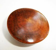 """Oyster Grain"" Antique Hardware  Maple Knob Antique Wood Drawer Pull 1 1/2""dia."