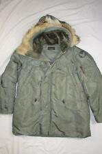 Vtg 50s 60s Pre Vietnam War US Air Force N-3B Parka Jacket Flight Coat Hooded