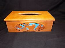 Hand-Crafted, Wooden Kleenx/Tissue Box Cover, Cardinal Theme-Excellent Condition