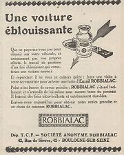 Z8700 Email ROBBIALAC - Pubblicità d'epoca - 1926 Old advertising
