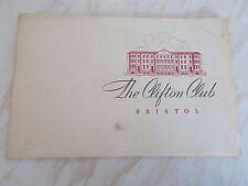 The Clifton Club Bristol Official Brochure - Undated - Obonged shaped