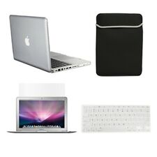 """4 in1 Crystal CLEAR Case for Macbook PRO 13"""" + Keyboard Cover + LCD Screen+ Bag"""