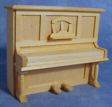1:12 Natural Finish Wooden Upright Piano Dolls House Miniature Instrument 086