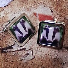 Unique! BADGER CUFFLINKS nature WILD wildlife COUNTRYSIDE fab BRITISH