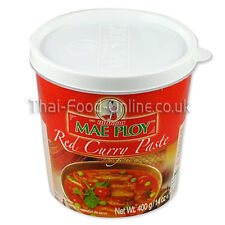 Authentic Thai red curry paste (400g) by Mae Ploy - UK Seller