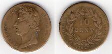 MONNAIE DE 10 CENTIMES 1827 H @ COLONIES FRANCAISES @ CHARLES X ROI DE FRANCE