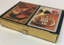 VINTAGE DOUBLE DECK PLAYING CARDS CONGRESS DESIGNER SERIES Musical Instruments