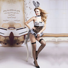 Ladies 7 Piece Sexy Playboy/Bunny Costume Size 10 Dress Ears Stockings Cuffs Tie