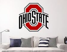 Ohio State NCAA Wall Decal Sports Basketball Football Sticker Vinyl Deco