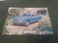 Enero 1977 Datsun 140J & 160J Saloon Violeta-Reino Unido Folleto De Una Hoja