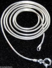 "Sterling Silver Snake Chain Necklace 24"" NEW Jewellery"
