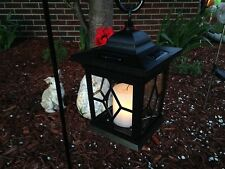 8 pack LED Solar Power Outdoor Hanging Venetian Black Lantern w/amber  Light