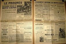 MOTO - CROSS : Programme officiel ; butte du polygone à  Valence  le 14 mai 1953