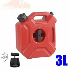 Red Atv 3 Liter Fuel Tank Cans Petrol Tanks Mount Motorcycle Car Oil Container