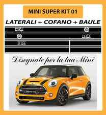 MINI ONE, COOPER, COOPER S ADESIVI SUPER KIT 01 COFANO + LATERALI + BAULE