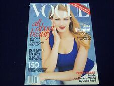 1997 JUNE VOGUE MAGAZINE - UMA THURMAN COVER - FASHION - GREAT PHOTOS - F 4100