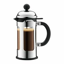 Bodum Chambord 3 Cup French Press Coffee Maker with Locking Lid Stainless 12 oz