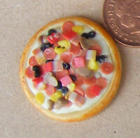1:12 Scale One Large Pizza Dolls House Miniature Food Kitchen Shop Accessory