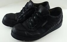 MEPHISTO Mens Sport Shoes Size 12 Black Leather Run-off Laces Rubber Soles