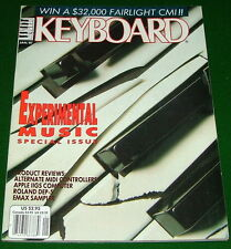 1987 Experimental KEYBOARD Music Special Issue, E-mu Emax & Roland DEP-5 Reviews