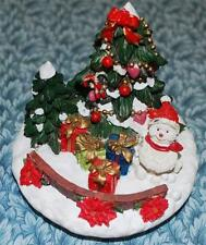 CHRISTmas Jar Candle Decorative Lid Topper - Snowmen Gifts Tree Scene _Very Nice