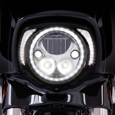 Ciro Black LED Headlight Bezel for Harley - 45201