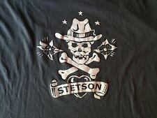 Stetson Hat Skull T-Shirt Paper Thin XXL Rare