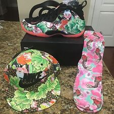Official Nike Tianjin Foamposite Hat & Matching Socks From China Rare NOT SHOES