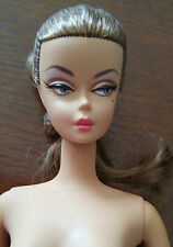 BARBIE SILKSTONE  NUDE -'PALM BEACH CORAL ' - BROWN PONYTAIL - DARKER SKINTONE