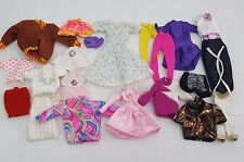 Barbie & Ken Doll Clothes Clothing Bulk Lot of 20 Pieces Dresses Tops Pants etc