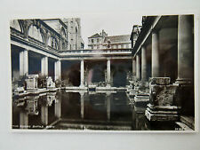 The Roman Baths Bath Real Photograph Old Postcard Harvey Barton RP