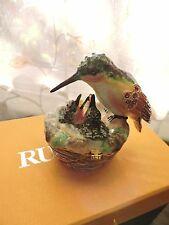RUCINNI Jeweled SWAROVSKI Crystal Hummingbird Nest Babies TRINKET BOX RB2125 MIB
