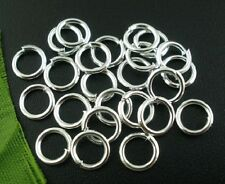 Wholesale-1000 PCs Shining Silver Plated  Open Jump Rings 5mm Dia(B16976)
