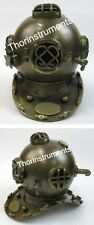 COLLECTIBLES ARMOUR HELMET  US NAVY DIVING HELMET IN SOLID BRASS ANTIQUE FINISH