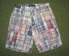 Men's $98. POLO-RALPH LAUREN Patchwork Plaid Madras Shorts (34) FLAT FRONT