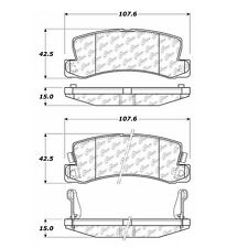 Centric Parts 105.03250 Rear Super Premium Ceramic Brake Pads