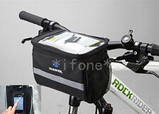 New Cycling Bicycle Bike Handlebar Bag Front Basket Holder Quick Release Black