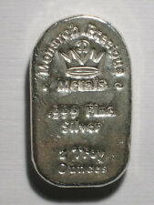 TWO TROY OUNCE TOMBSTONE BAR MONARCH PRECIOUS METALS 999 SILVER POURED MPM 2 oz
