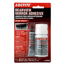 Rear View Mirror Adhesive Glue Loctite Auto Glass Windshield Kit