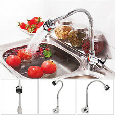 Kitchen Sink Basin Bathroom Chrome Faucet Swivel Mixer Tap Spout Hot & Cold New