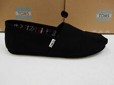 TOMS MENS SHOES CLASSIC CANVAS BLACK ON BLACK SIZE 11.5