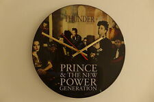"Prince - Thunder  - 12"" Picture Disc Clock - Vinyl Record Clock"