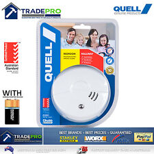 Smoke Alarm Fire Detector Quell® Photoelectric Worry Free Intelligent Bonus 9v